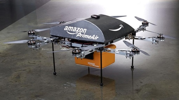 amazon drona  Coletele Amazon vor fi livrate cu drone amazon drona
